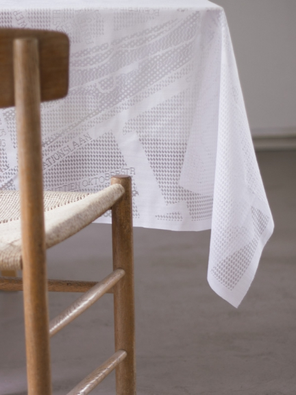 'LACE MAP' TABLECLOTH
