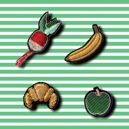 HAND-EMBROIDERED PINS