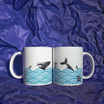 'WHALES IN OCEAN' COFFEE MUG