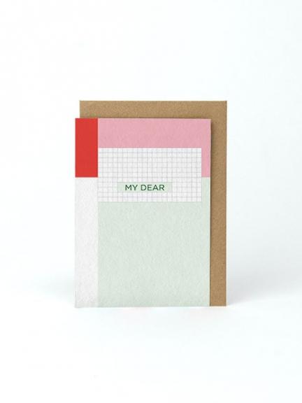 'MY DEAR' CARD