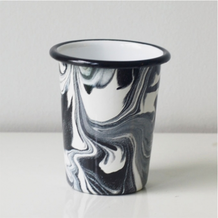 'MARBLE' ENAMEL CUP LARGE