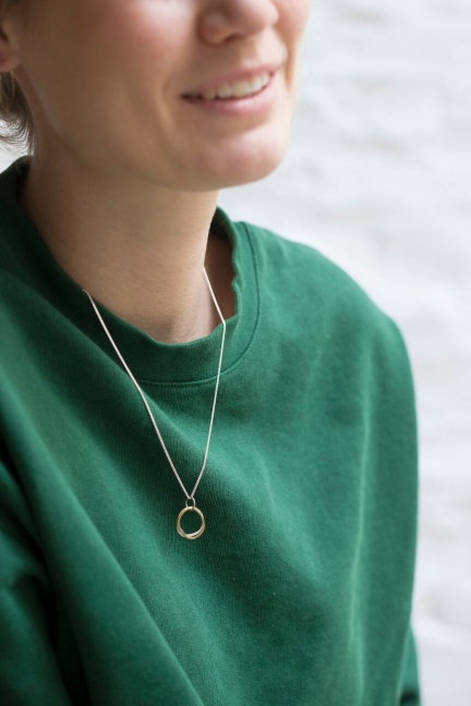 NECKLACE WITH 'AMORPH' RINGS PENDANT