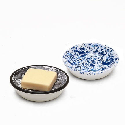 'MARBLE & SPECKLES' ENAMEL SOAP DISH