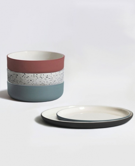 'DOUBLE LAYER' BOWLS & PLATES