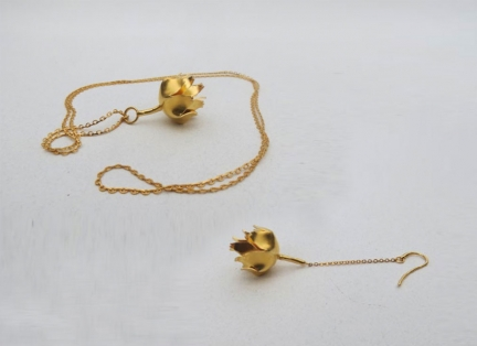 'ARTICHOKE' NECKLACE & EARRING