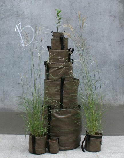 ROUND TEXTILE PLANT POTS