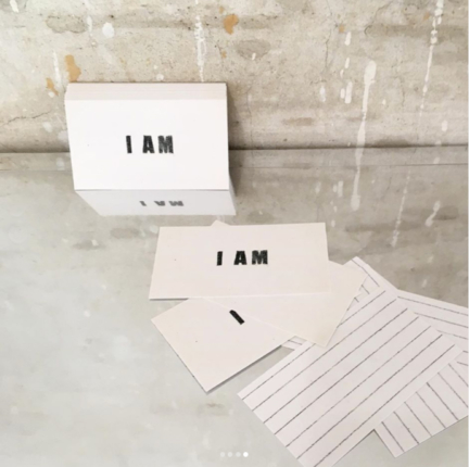 'I AM' SET OF 50 BUSINESS CARDS